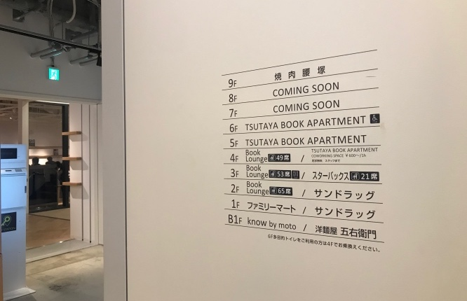 TSUTAYA BOOK APARTMENT_案内壁